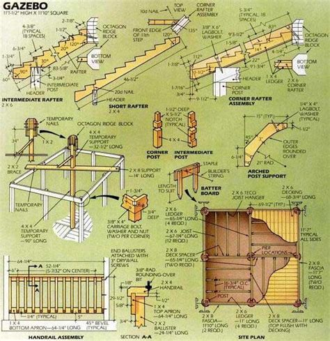 Gazebo Building Plans Square Gazebo Plans And Blueprints For A Easy To Build