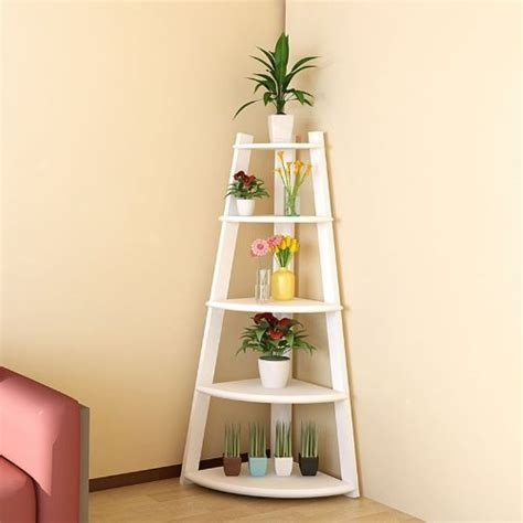 Corner Ladder Bookcase 187 Furinno 5 Tier Corner Ladder Shelving Unit Cherry Color Review
