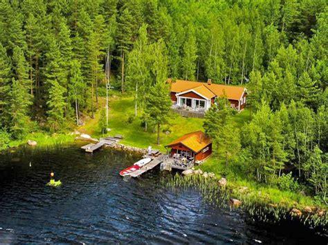 einsame hütte am see mieten schweden ferienh 228 user 214 sterg 246 tland 187 haus tingkullan 228 s
