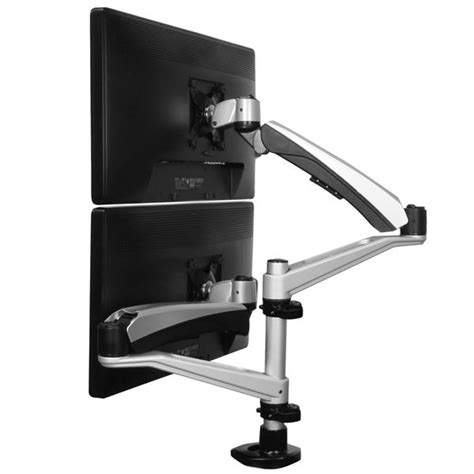 Dual Monitor Mount With Articulating Arms Display Dual Monitor Arm Desk Mount