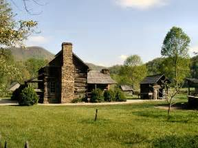 Farm Houses Great Smoky Mountains National Park Tennessee Amp North