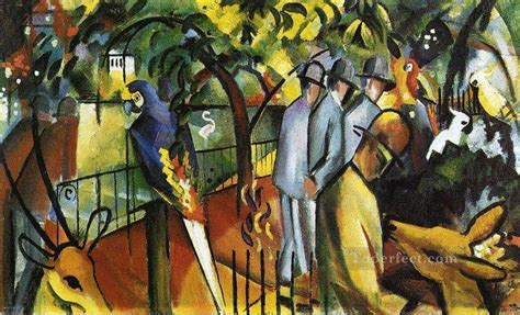 painting zoo zoo logical garden i expressionist painting in for sale