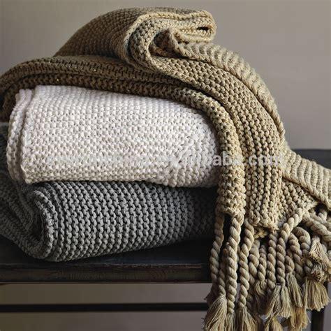 knitted sofa throws 100 cotton knit blanket white plaid throw for sofas cotton