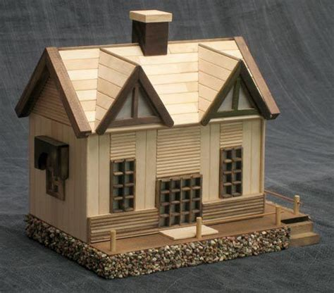 Popsicle Stick Cabin by Loghouse L1 Craft Ideas