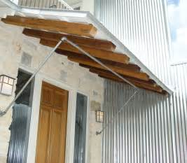 Copper Porch Awning Entry Porch Shed Roof And Brackets Contemporary
