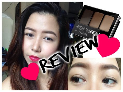 maybelline fashion brow 3d brow and nose palette review