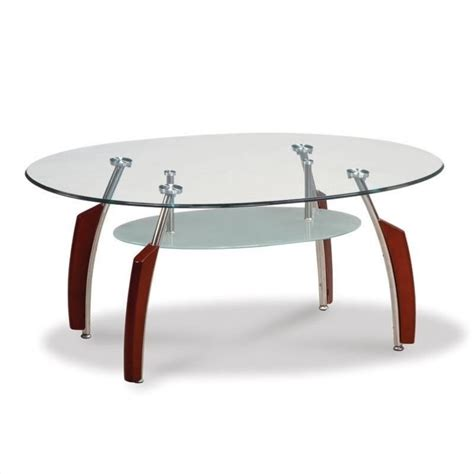 global furniture usa francis oval coffee table with glass