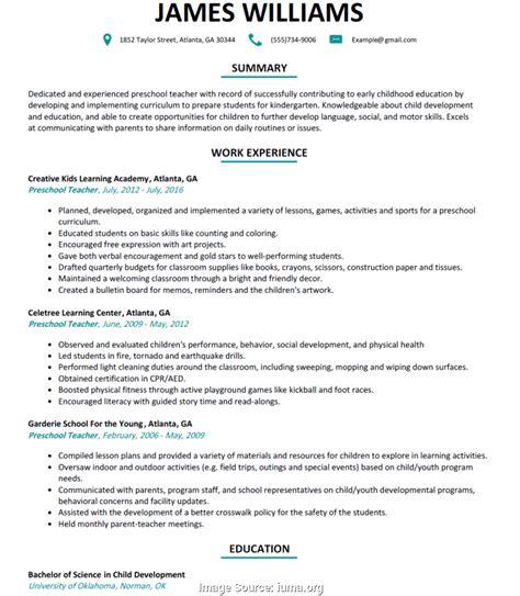 kindergarten teacher resume kindergarten teacher resume sample