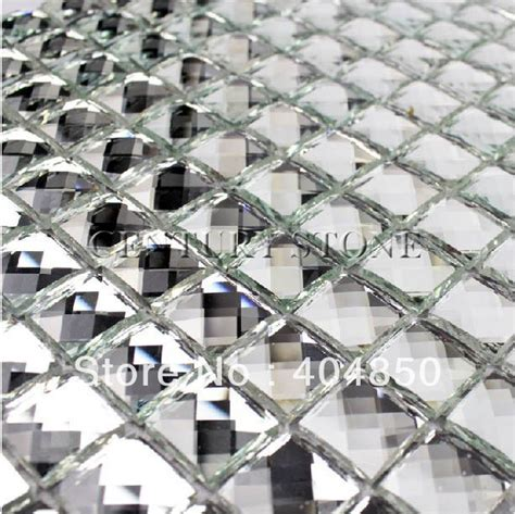 mirrored glass mosaic discount tile backsplash on