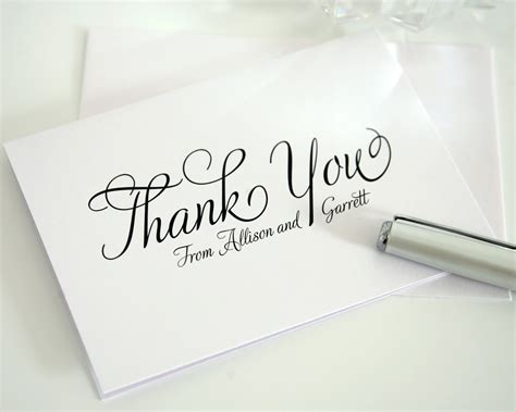 Thank You For Gift Card Wedding - wedding thank you cards with script thank you cards by shine