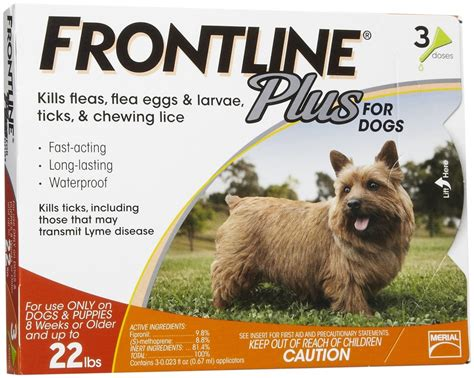 frontline plus for dogs reviews frontline plus for dogs 0 22 lbs 3 pack orange vetdepot