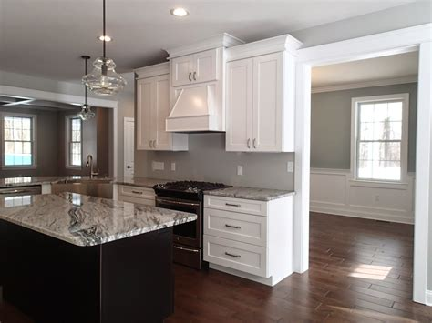 Silver Cloud Granite Kitchen Counter Tops White Shaker Cloud White Kitchen Cabinets