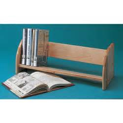 demco heavy duty wood tabletop book rack