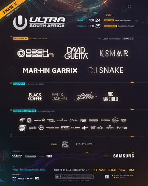 ultra south africa lineup 2019 mr cape town ultra sa 2017 phase two artists announced mr cape town
