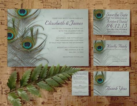 wedding invitations reply by date vintage peacock feather wedding invitation set suite