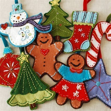 pdf pattern felt embroidered christmas ornaments ebook instant