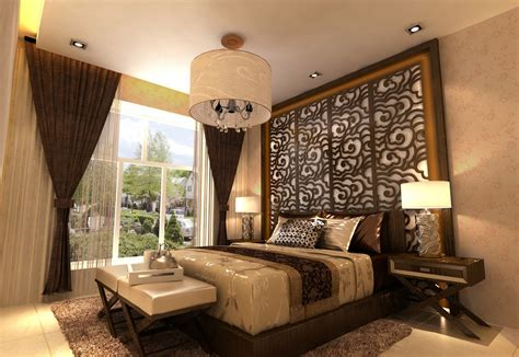 Bedroom background wall and lighting Download 3D House