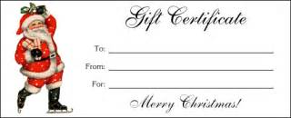 Santa Gift Certificate Template Altogetherchristmas Com Printable Gift Certificates