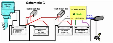 boat battery configuration rewiring charging schematic for battery configuration