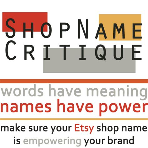 Handmade Shop Names - etsy shop name critique is your shop name empowering