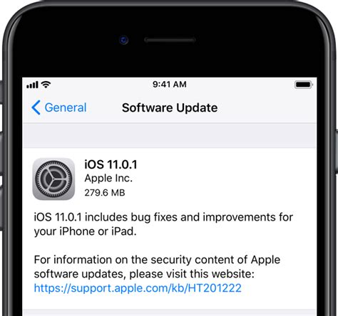 iphone update apple releases ios 11 0 1 with bug fixes unspecified improvements for iphone and