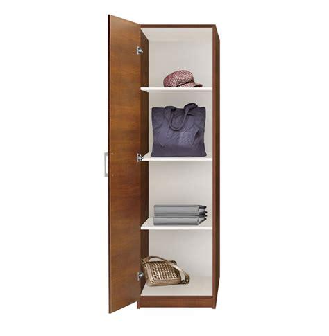 Narrow Closet Shelving by Alta Wardrobe Closet Narrow Closet Left Door 3 Shelves