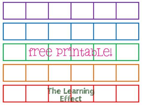the learning effect free printable rainbow rug seating