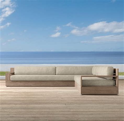 Marbella Collection Weathered Grey Teak Outdoor Restoration Hardware Teak Outdoor Furniture