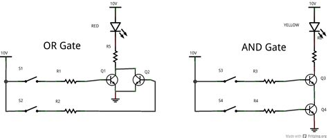 not gate using diodes pics for gt or gate circuit diagram using diode