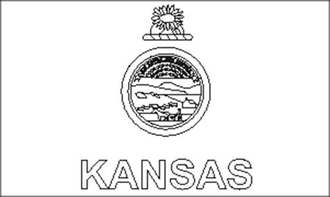 kansas state flag coloring pages usa for kids