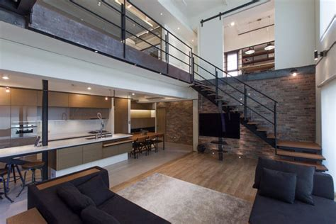 2 floor apartments two story penthouse in taiwan displaying contemporary