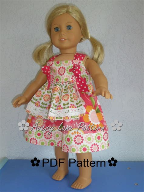 clothes pattern for 18 inch doll 18 inch doll clothes pattern apron knot dress boutique sewing