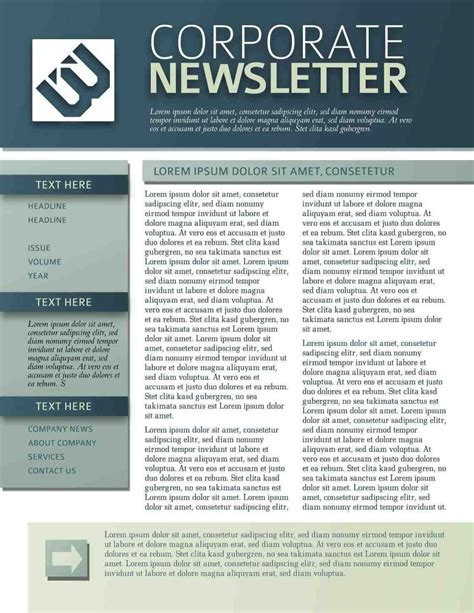 Free Department Newsletter Templates Newsletter Templates U Exles Templates Business Simple Newsletter Templates Free