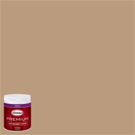 glidden premium 8 oz hdgwn20 warm caramel eggshell interior paint with primer tester hdgwn20p