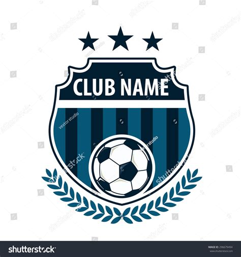 Football Badge Logo Template Design Soccer Team Vector Illustration 296679494 Shutterstock Nightclub Logo Template