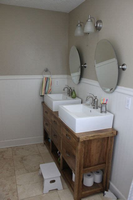 how to make a dresser into a bathroom vanity dresser turned into double vanity or console table i