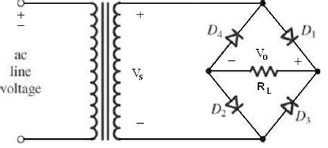 diode bridge connection shahram marivani wave rectifiers and power supplies