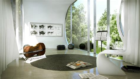 music room design ideas contemporary music room with curved windows interior