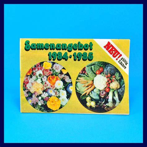 Pflanzen Aus 1985 by Ddr Versandhaus Samen Und Pflanzen Erfurt 1984 1985 Vsb