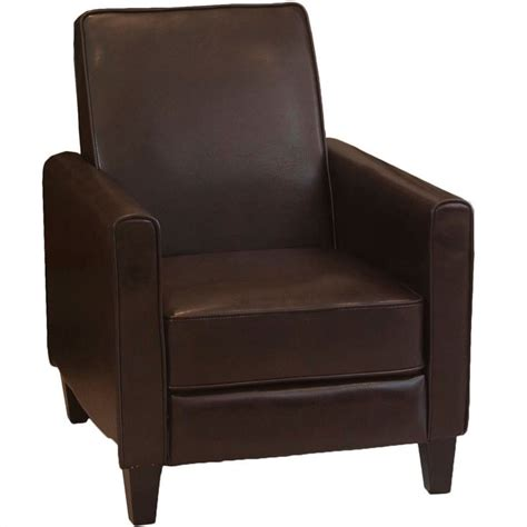 leather club recliner trent home delouth leather recliner club chair 540532cy