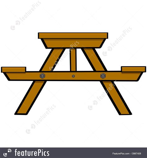 average picnic table size picnic table stock illustration i3967408 at featurepics