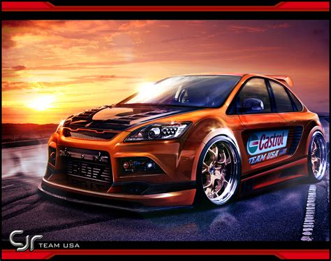 Jaguar Auto Weiß by Ford Focus Rs Coupe Tuning Ford Focus Rs Tuning Wallpaper