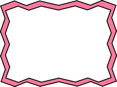 frame clipart pink zig zag frame free clip frames