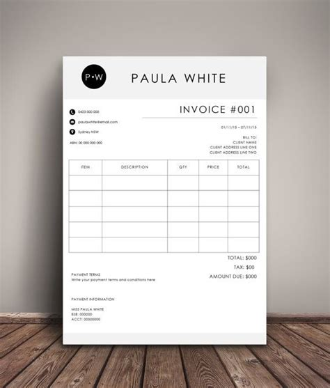 invoice design price invoice template receipt ms word and photoshop