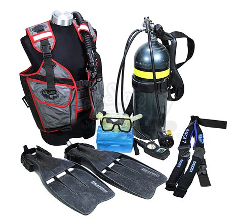 dive equipment bonds timothy dalton scuba equipment prop store