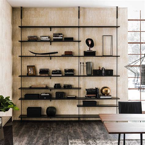 libreria a soffitto libreria componibile a pali airport di cattelan arredaclick