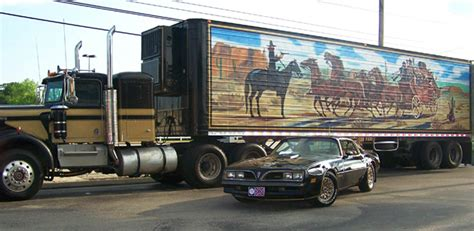 film semi australia american truckers relives epic smokey and the bandit beer