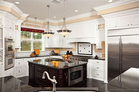 white kitchen dark island pictures of kitchens traditional white kitchen