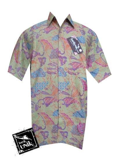 M2 Kemeja Hibbie Pink baju batik sarimbit motif cakar kantong semar sarimbit gamis murah batikunik