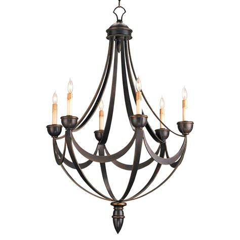 Black Chandelier Lighting by Black Wrought Iron Regency 6 Light Bronze Gold Chandelier
